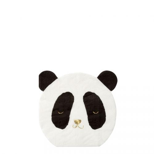 16 Petites Serviettes Petit Panda