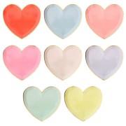 8 Assiettes Coeurs Rainbow