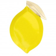 8 Assiettes Citron Jaune
