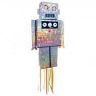 Pull Pinata Robot - Iridescent