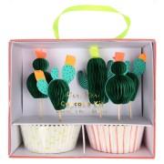 Kit 24 Caissettes et Déco Cactus