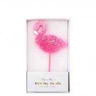 Grande Bougie Flamant Rose (12 cm)