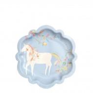 8 Petites Assiettes Princesse Magique - Licorne