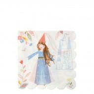 16 Serviettes Princesse Magique