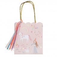 8 Sacs cadeaux Princesse Magique (22 cm)