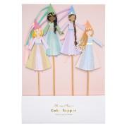 4 Maxi Pics Déco de Gâteau Princesse Magique (24 cm)