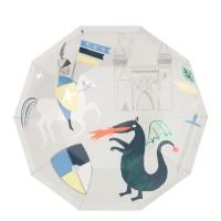 Contient : 1 x 8 Assiettes Chevalier et Dragon