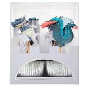 Kit 24 Caissettes et Déco Chevaliers et Dragon