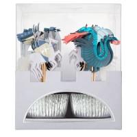 Contient : 1 x Kit 24 Caissettes et Déco Chevaliers et Dragon