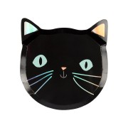 8 Petites Assiettes - Chat Noir