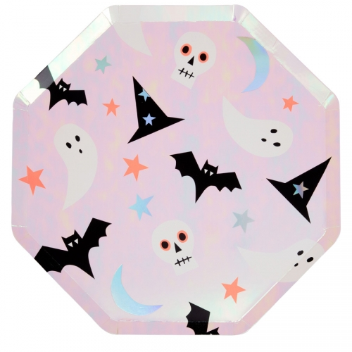 8 Assiettes - Funky Halloween Iridescent