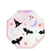 8 Petites Assiettes - Funky Halloween Iridescent