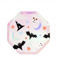 8 Petites Assiettes - Funky Halloween Iridescent