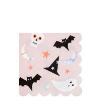 Contient : 1 x 20 Serviettes - Funky Halloween Iridescent