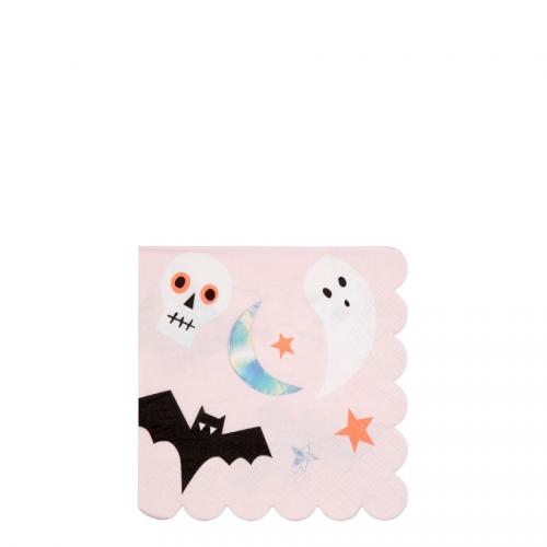 16 Petites Serviettes - Funky Halloween Iridescent