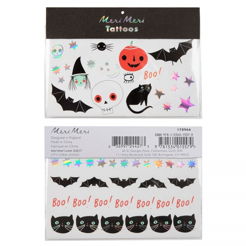 Tatouages Halloween - Assortiment