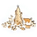 Calendrier de l Avent  Animaux en bois. n°1