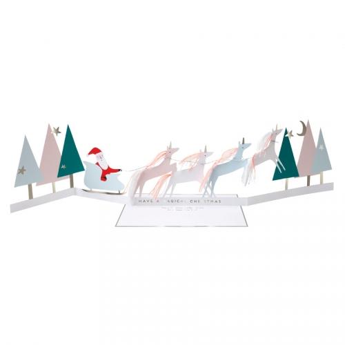 Carte de Vœux Dépliable - Licornes