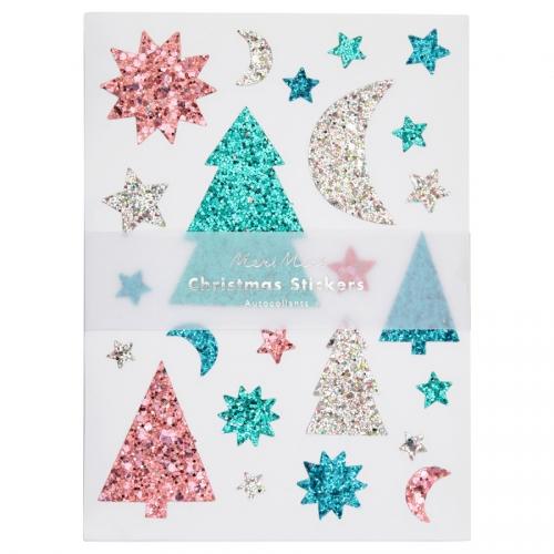 10 Planches de Stickers - Noël Glitter