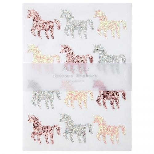 10 Planches de Stickers - Licorne Glitter