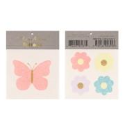 Tatouages - Papillons/Fleurs Paillettes