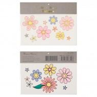 2 Planches de Tatouages - Fleurs