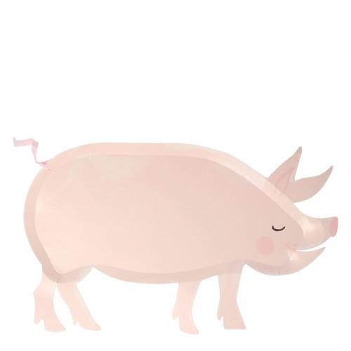 12 Assiettes Ferme - Cochon