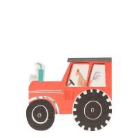 Contient : 1 x 16 Serviettes Ferme - Tracteur