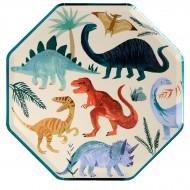 8 Assiettes - Royaume des Dinosaures
