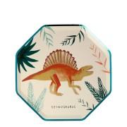 8 Petites Assiettes - Royaume des Dinosaures