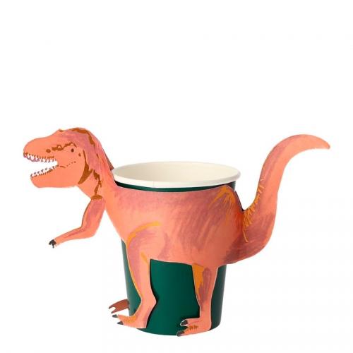 8 Gobelets - Royaume des Dinosaures