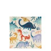 16 Serviettes - Royaume des Dinosaures