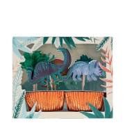 Kit 24 Caissettes et Déco Royaume des Dinosaures