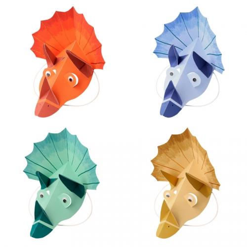 4 Chapeaux Masques - Dinosaures