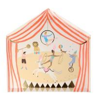 Contient : 1 x 8 Grandes Assiettes - Cirque