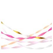 5 Serpentins de Papier crépon - Pastel