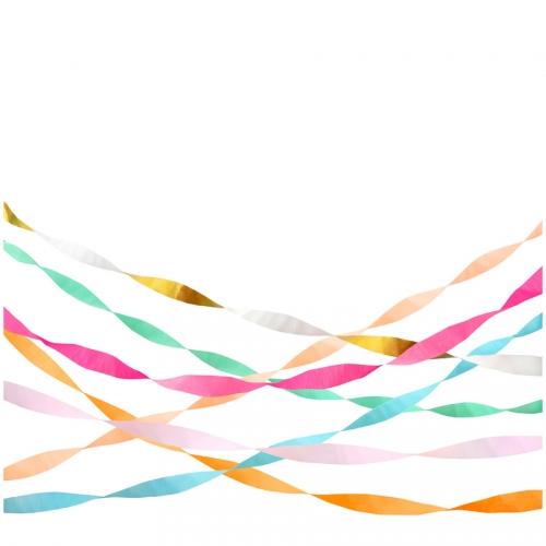 7 Serpentins de Papier - Couleurs Vives