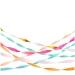 7 Serpentins de Papier - Couleurs Vives. n°1