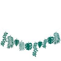 Contient : 1 x Grande Guirlande Feuilles Vertes