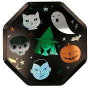8 Assiettes Funky Halloween