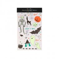 2 Planches de Tatouages Halloween Phosphorescents