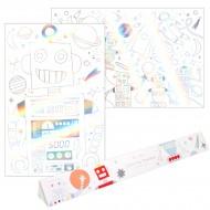 2 Affiches à Colorier - Espace/Robot