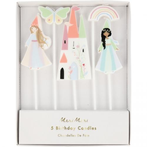 5 Bougies Princesses Fées