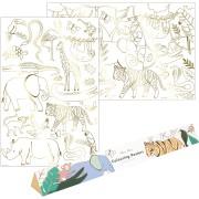 2 Affiches à Colorier - Animaux de la Jungle