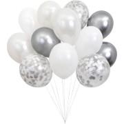 Kit 12 Ballons Argentés