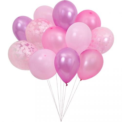 Kit 12 Ballons Roses