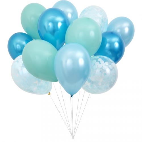 Kit 12 Ballons Bleus