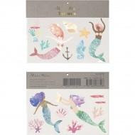 2 Planches de Tatouages Sirènes