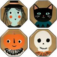 8 Petites Assiettes Halloween Vintage