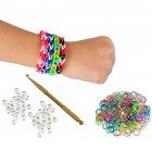 Bracelets Loom - 200 élastiques avec fermoirs et crochet